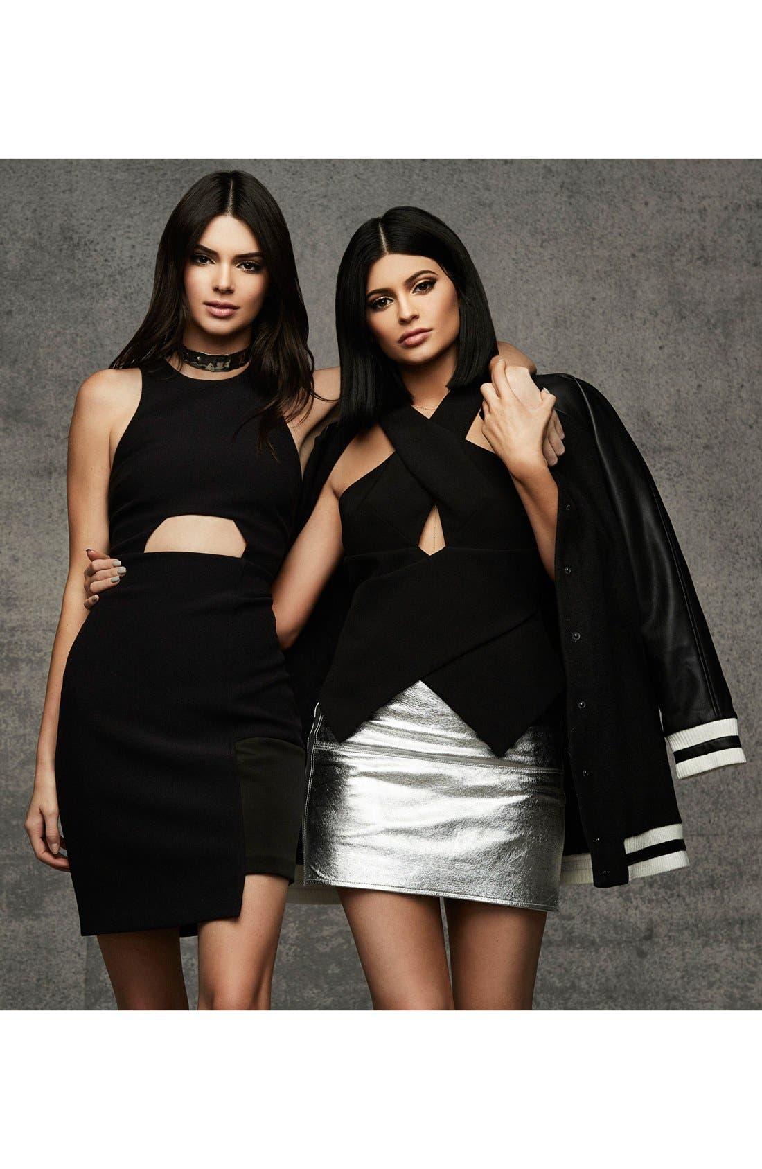 Alternate Image 7  - KENDALL + KYLIE at Topshop Metallic Leather Miniskirt