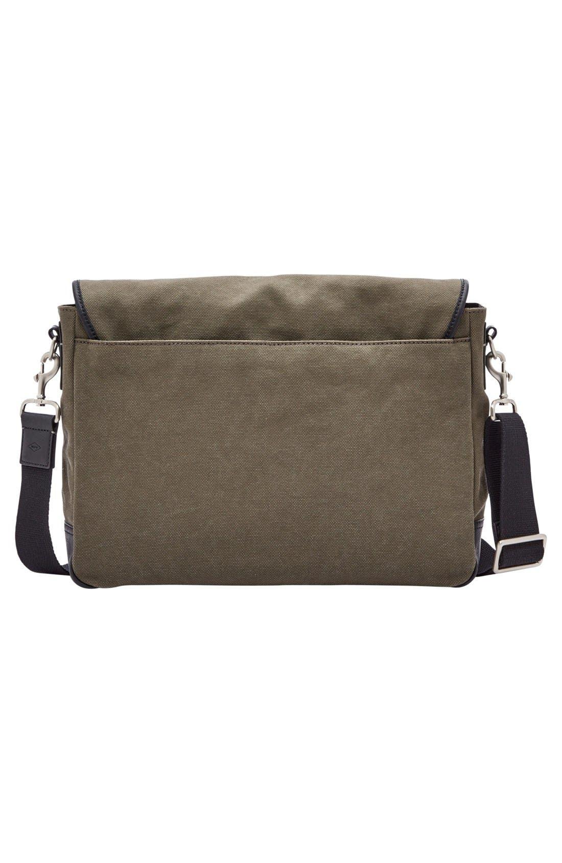 'Graham' Canvas Messenger Bag,                             Alternate thumbnail 2, color,                             Olive
