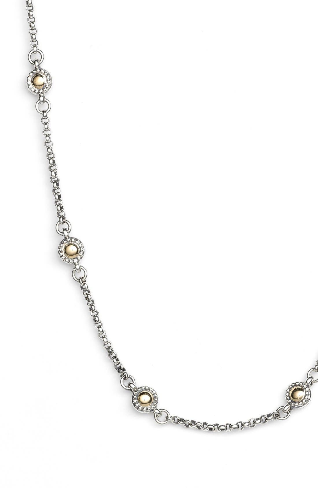 Station Necklace,                             Alternate thumbnail 2, color,                             Silver/ Gold