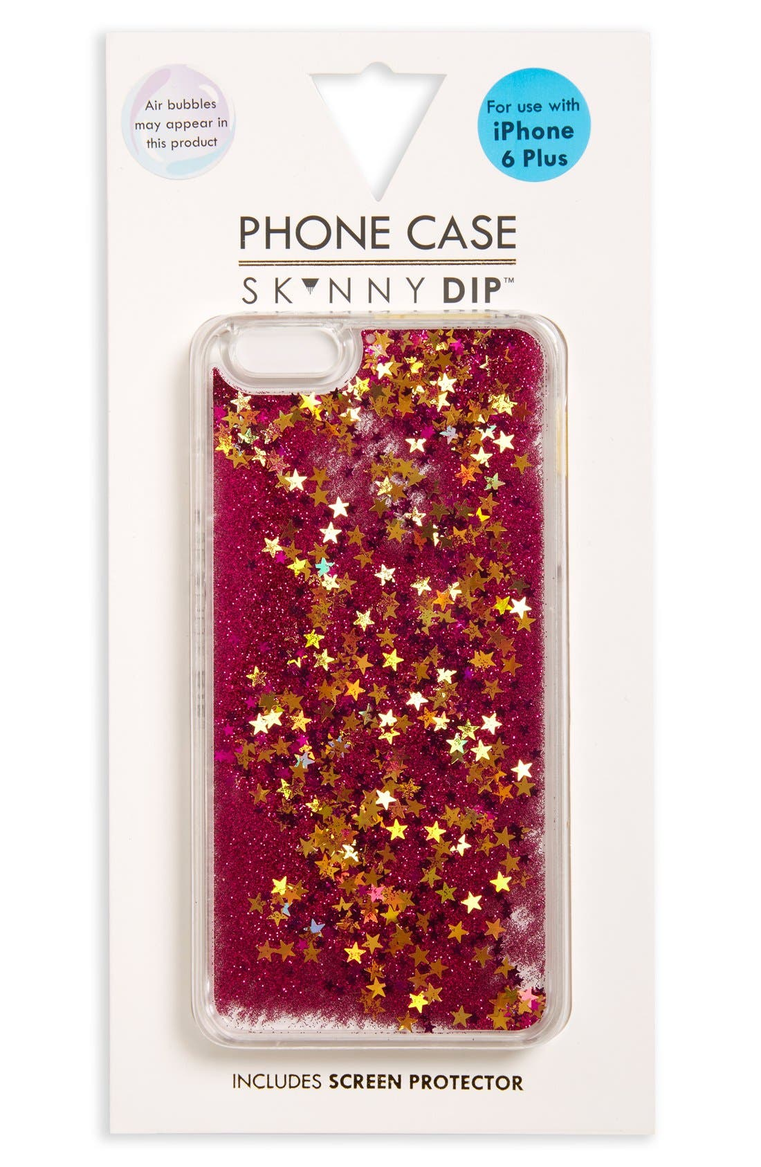 Main Image - Skinnydip Glitter iPhone 6 Plus & 6s Plus Case