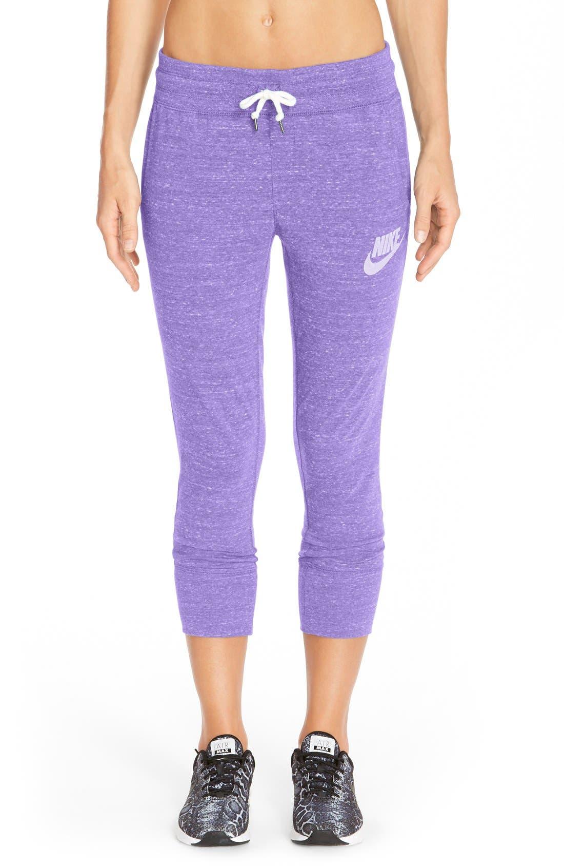 Alternate Image 1 Selected - Nike 'Gym Vintage' Capri Sweatpants