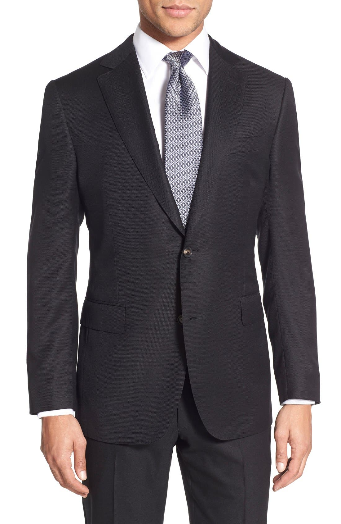 Classic Fit Wool Blazer,                         Main,                         color, Black