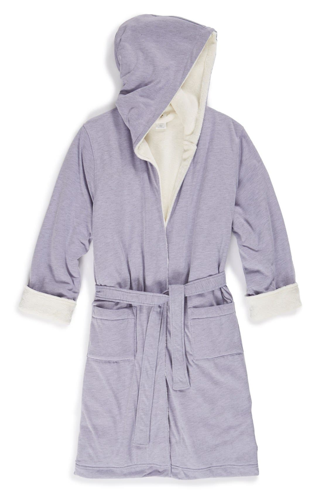 Alternate Image 1 Selected - Tucker + Tate Fluffy Hooded Robe (Little Girls & Big Girls)