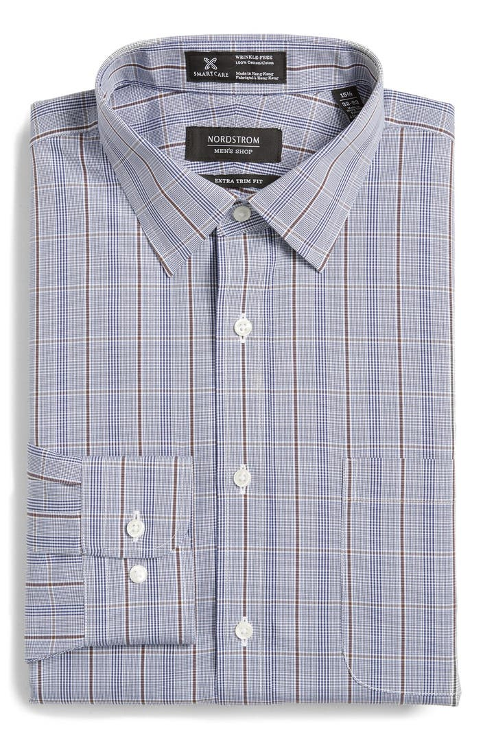 Nordstrom men 39 s shop smartcare wrinkle free extra trim Best wrinkle free dress shirts