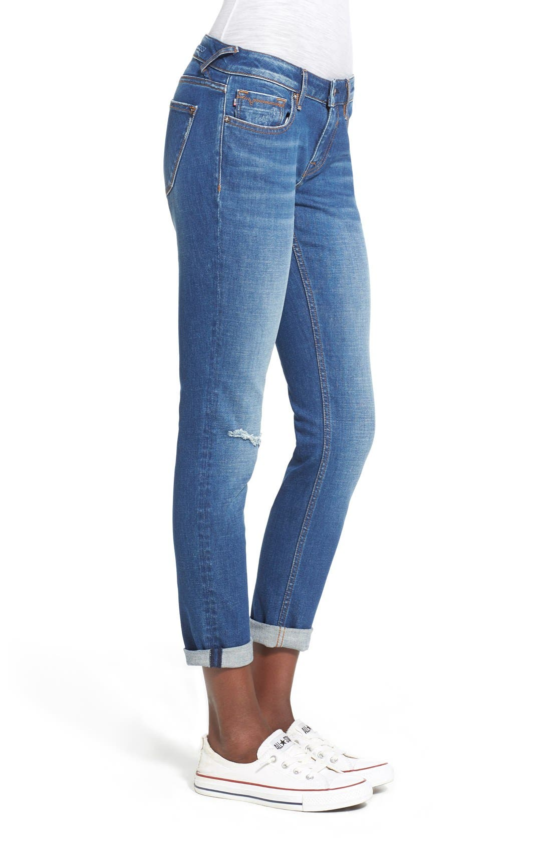 Alternate Image 3  - Vigoss 'Tomboy Thompson' Destructed Jeans (Medium Wash)