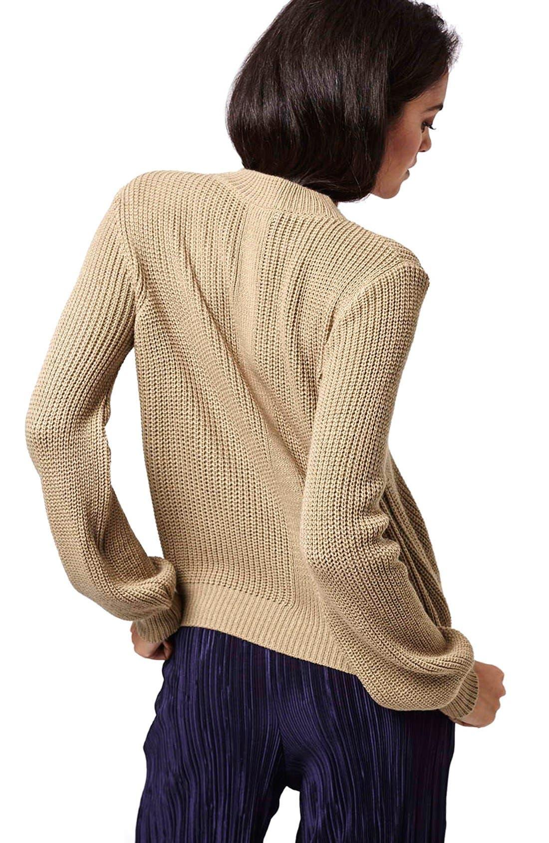 Alternate Image 3  - Topshop Mock Neck Pullover Sweater
