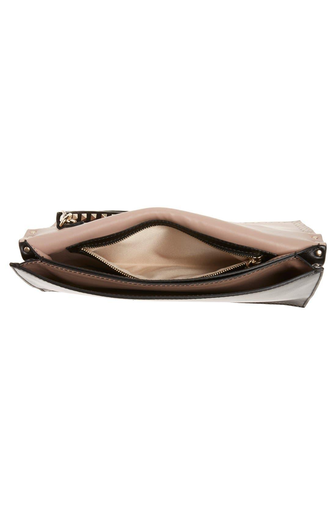 Alternate Image 4  - VALENTINO GARAVANI 'Rockstud' Leather Flap Clutch