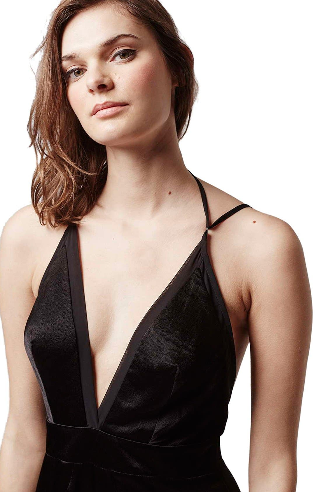 Alternate Image 4  - Topshop Satin Maxi Dress