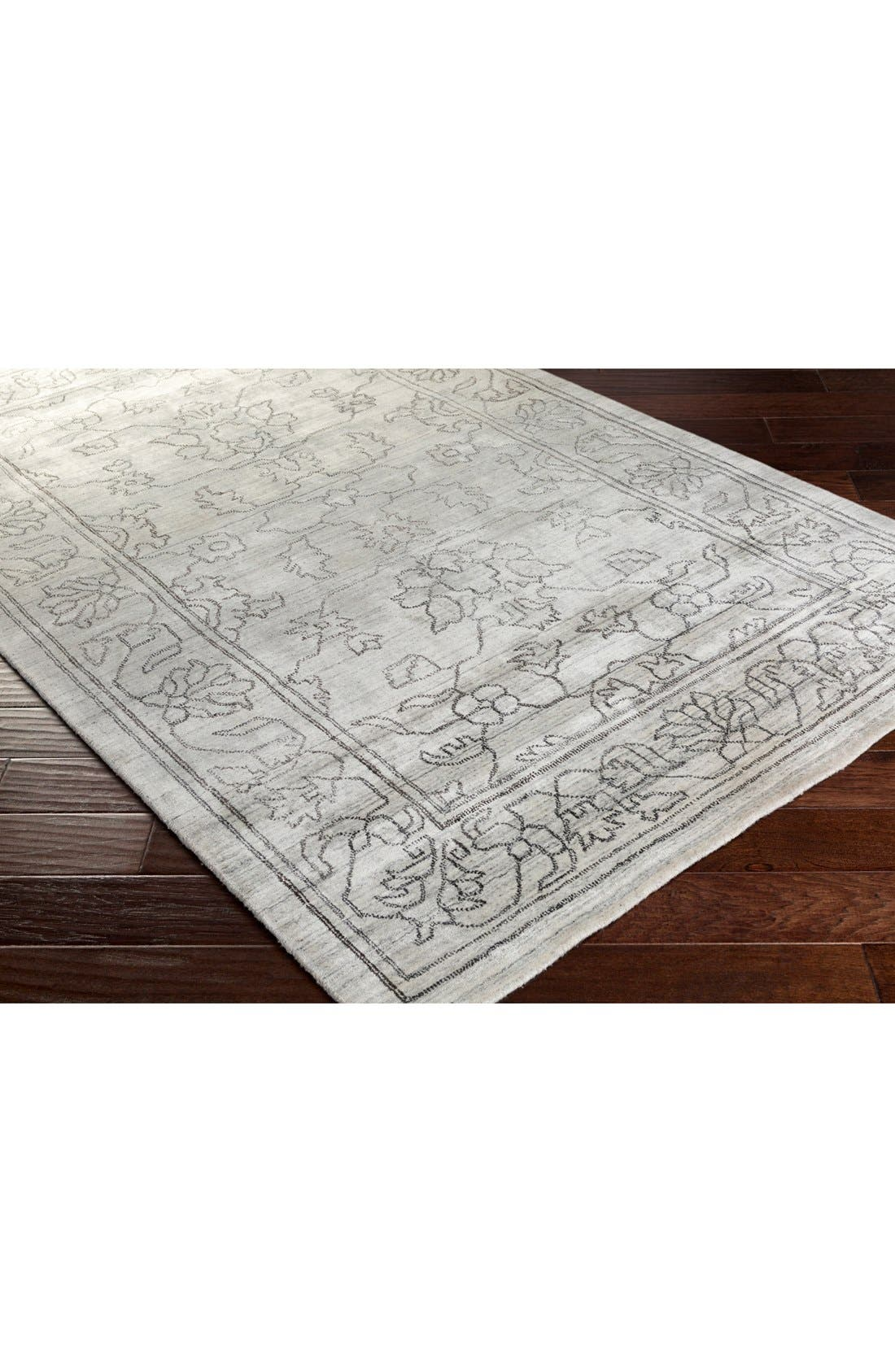 'Hightower' Hand Loomed Rug,                             Alternate thumbnail 2, color,                             Grey