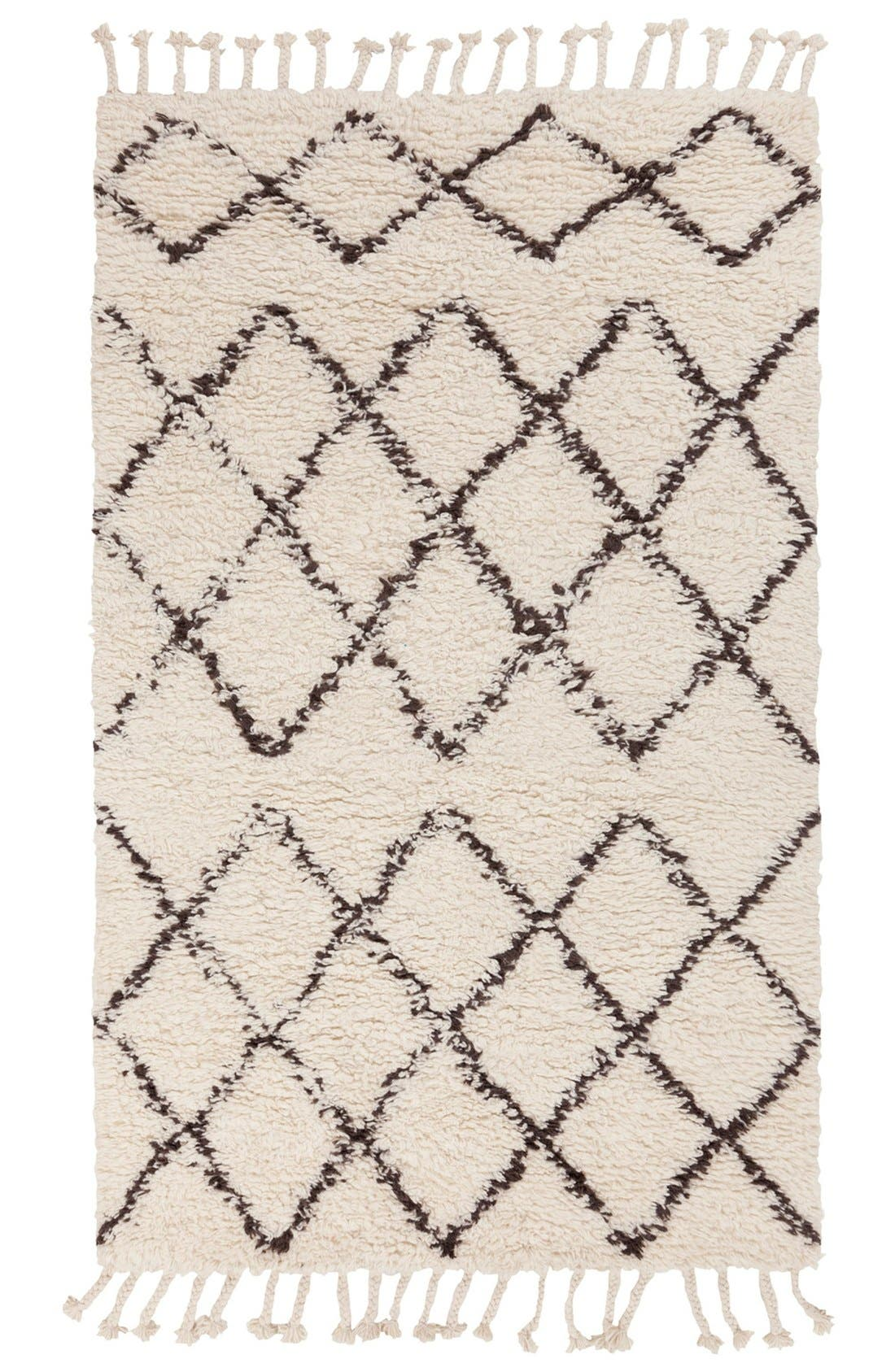 'Sherpa - Lines' Wool Rug,                             Main thumbnail 1, color,                             Ivory/ Taupe