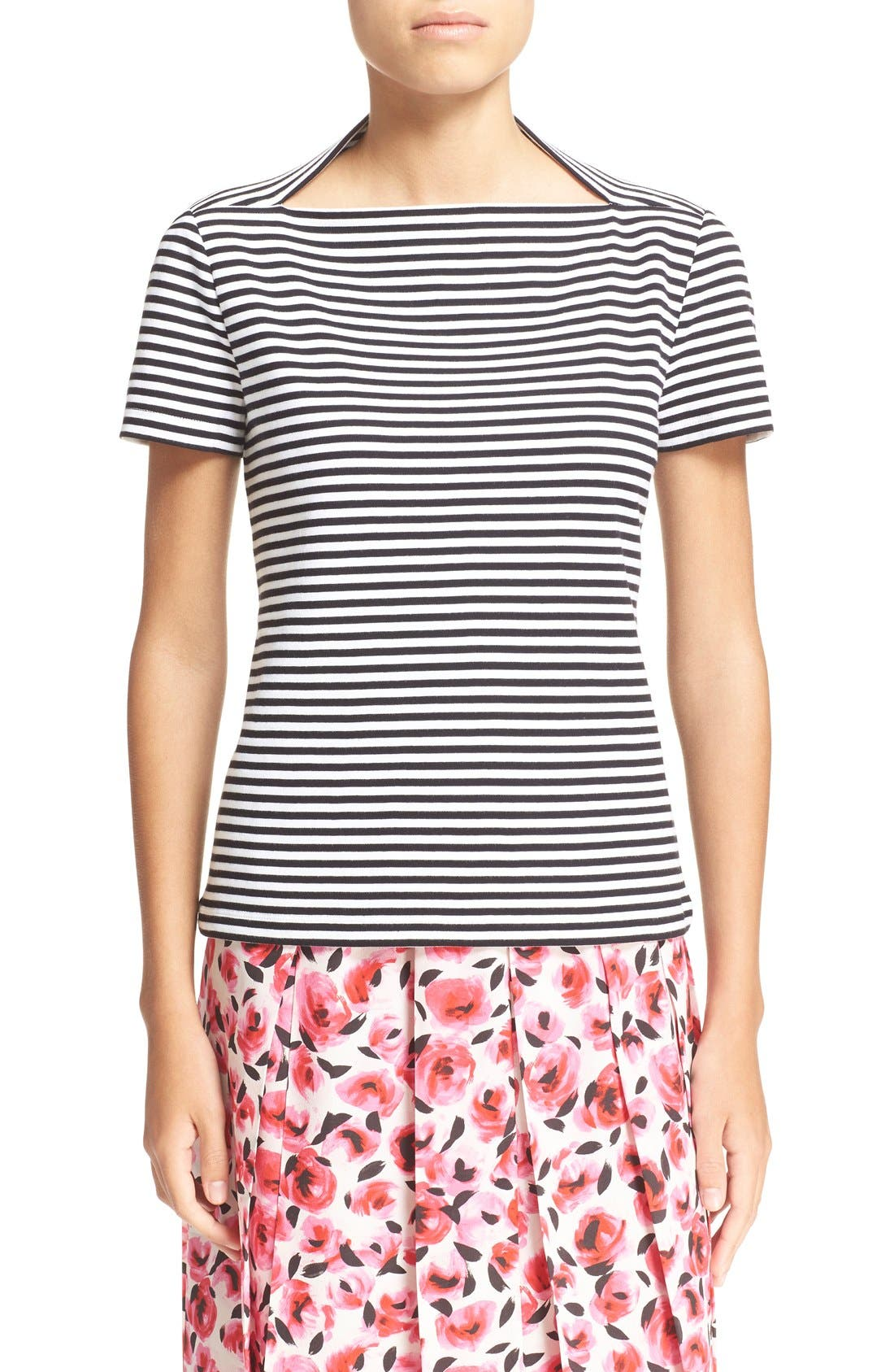 kate spade new york stripe cotton tee