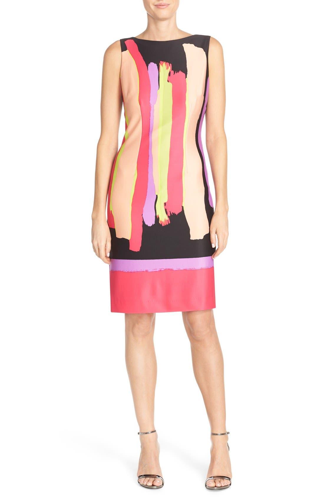 Alternate Image 1 Selected - Chetta B Print Scuba Sheath Dress
