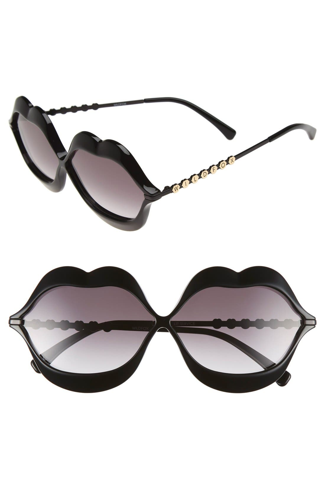 Wildfox 'Lip Service' 65mm Sunglasses