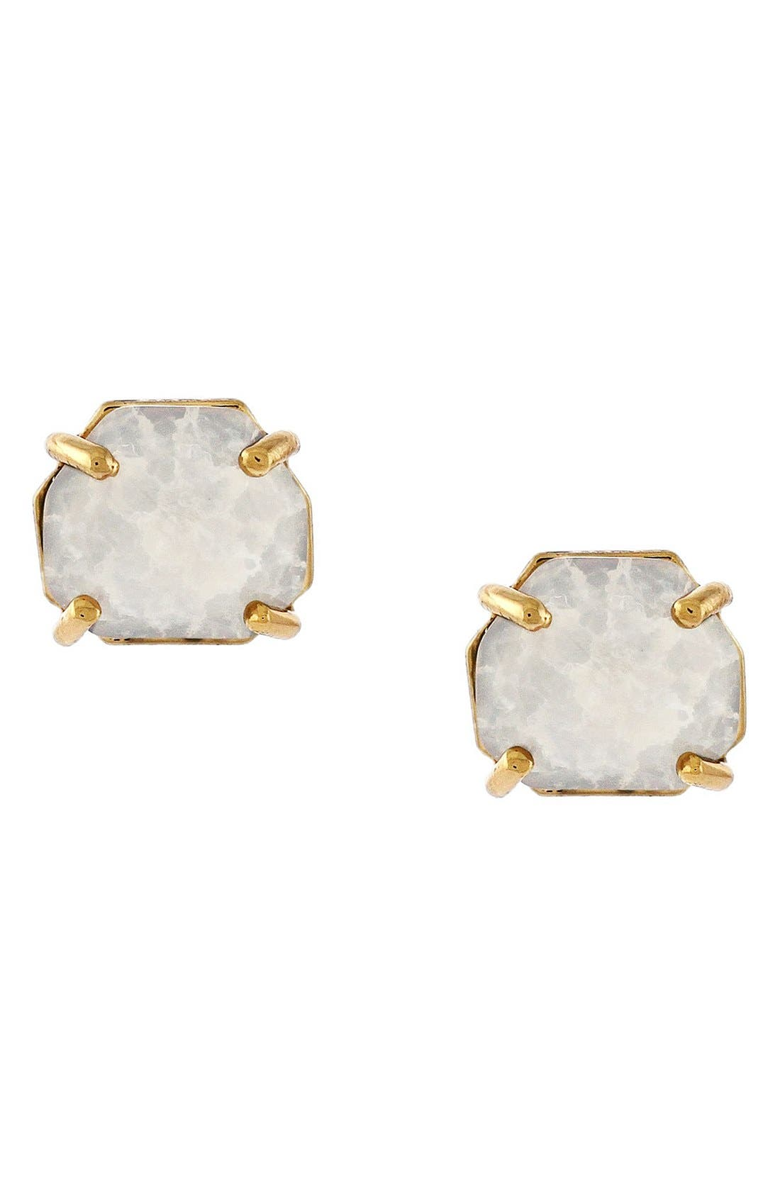 Crystal Stud Earrings,                             Main thumbnail 1, color,                             Burnt Rose Gold