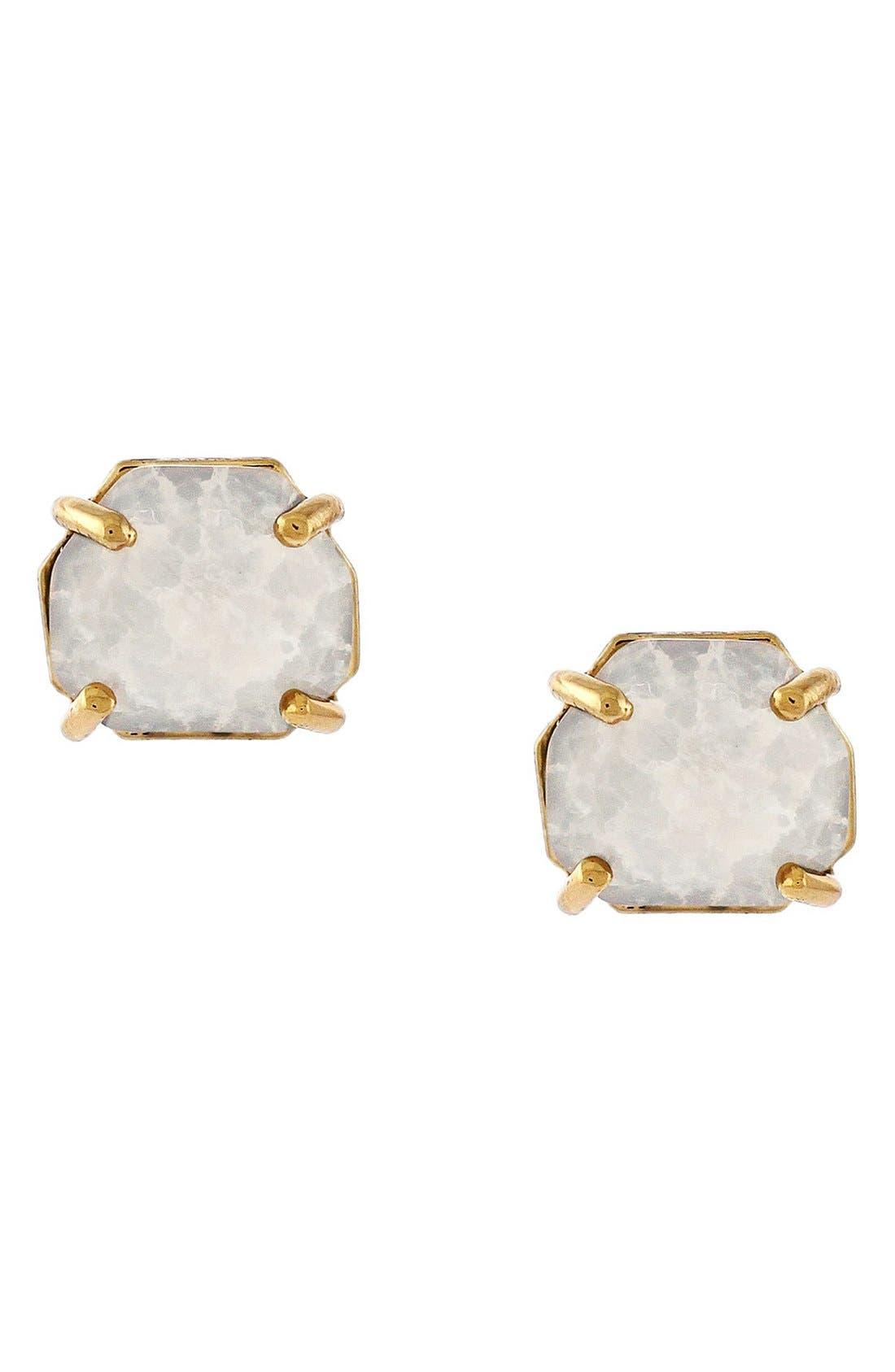 Crystal Stud Earrings,                         Main,                         color, Burnt Rose Gold