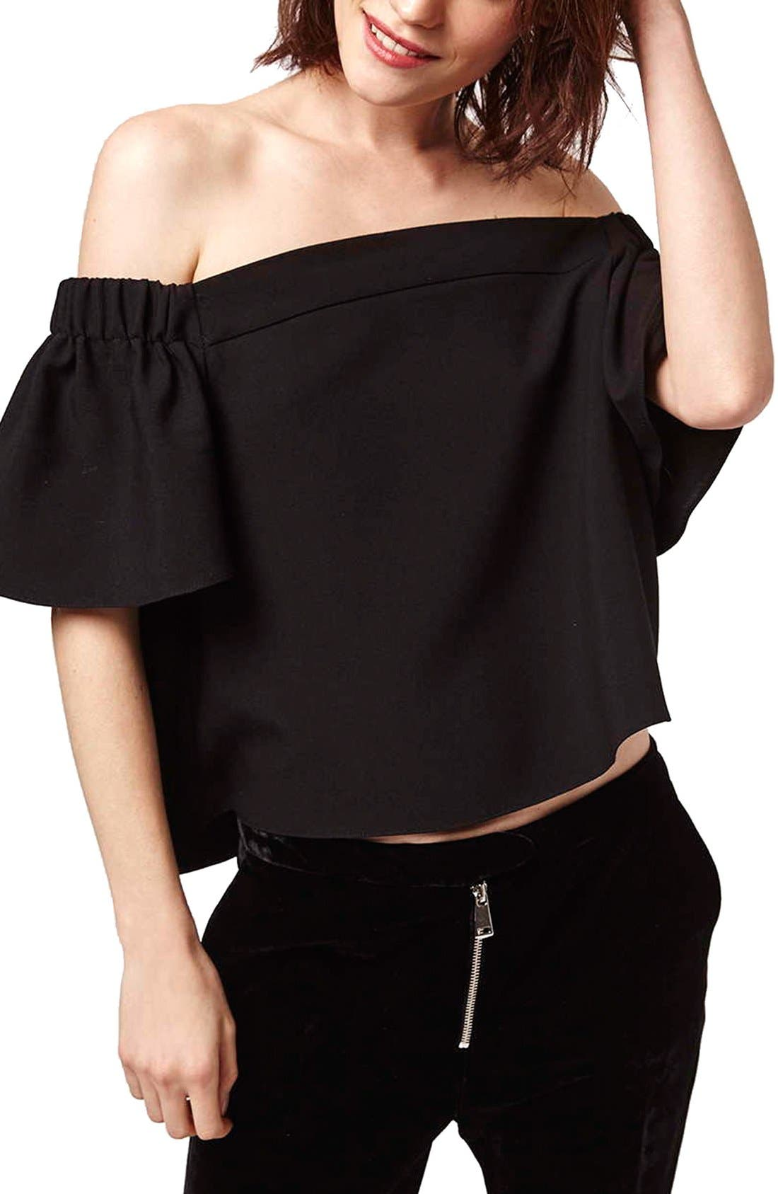 Alternate Image 1 Selected - Topshop Structured Bardot Top