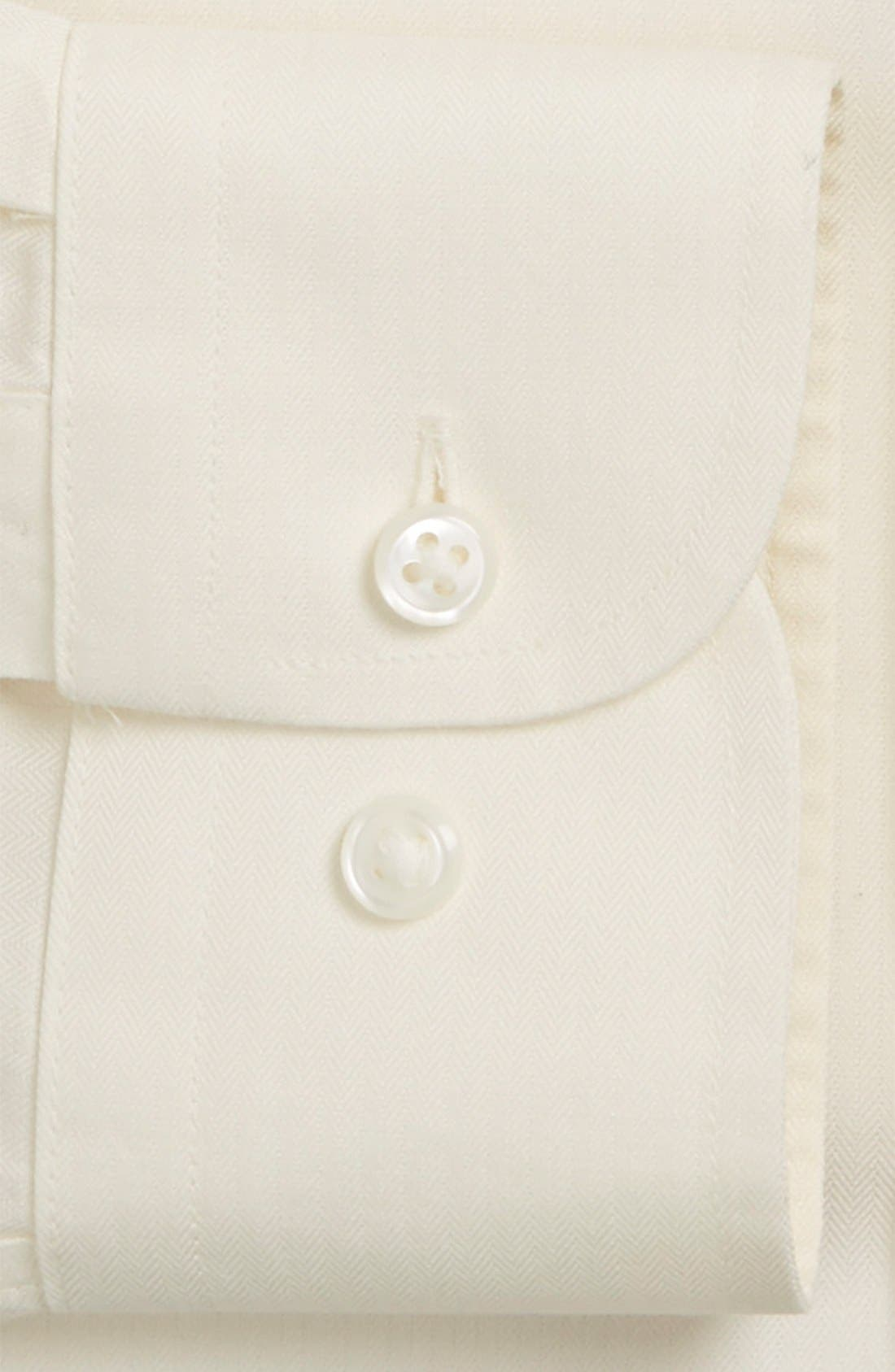 Alternate Image 2  - Nordstrom Men's Shop Smartcare™ Wrinkle Free Herringbone Trim Fit Dress Shirt