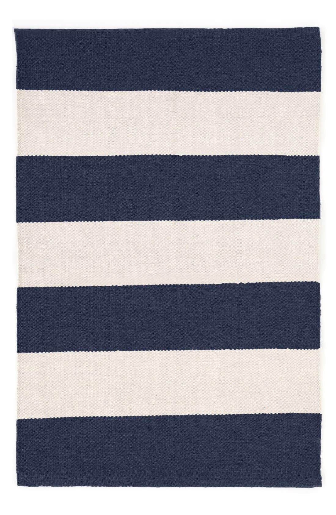 'Falls Village Stripe' Rug,                             Main thumbnail 1, color,                             Navy