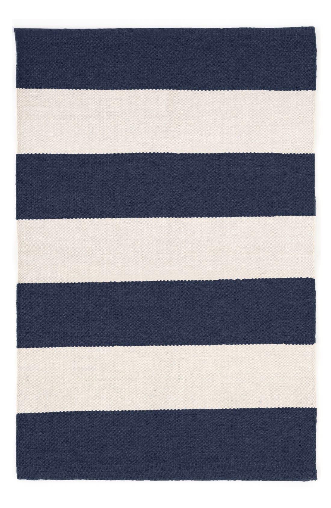 'Falls Village Stripe' Rug,                         Main,                         color, Navy