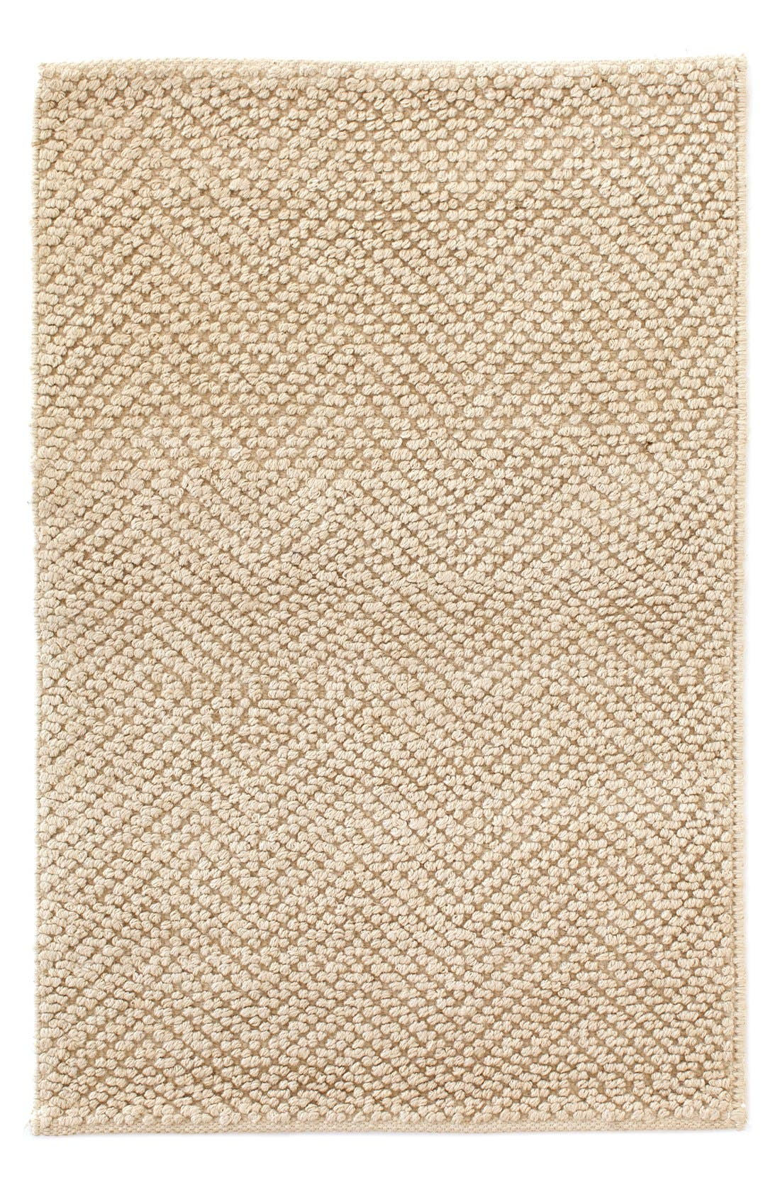 Woven Jute & Cotton Rug,                         Main,                         color, Sand