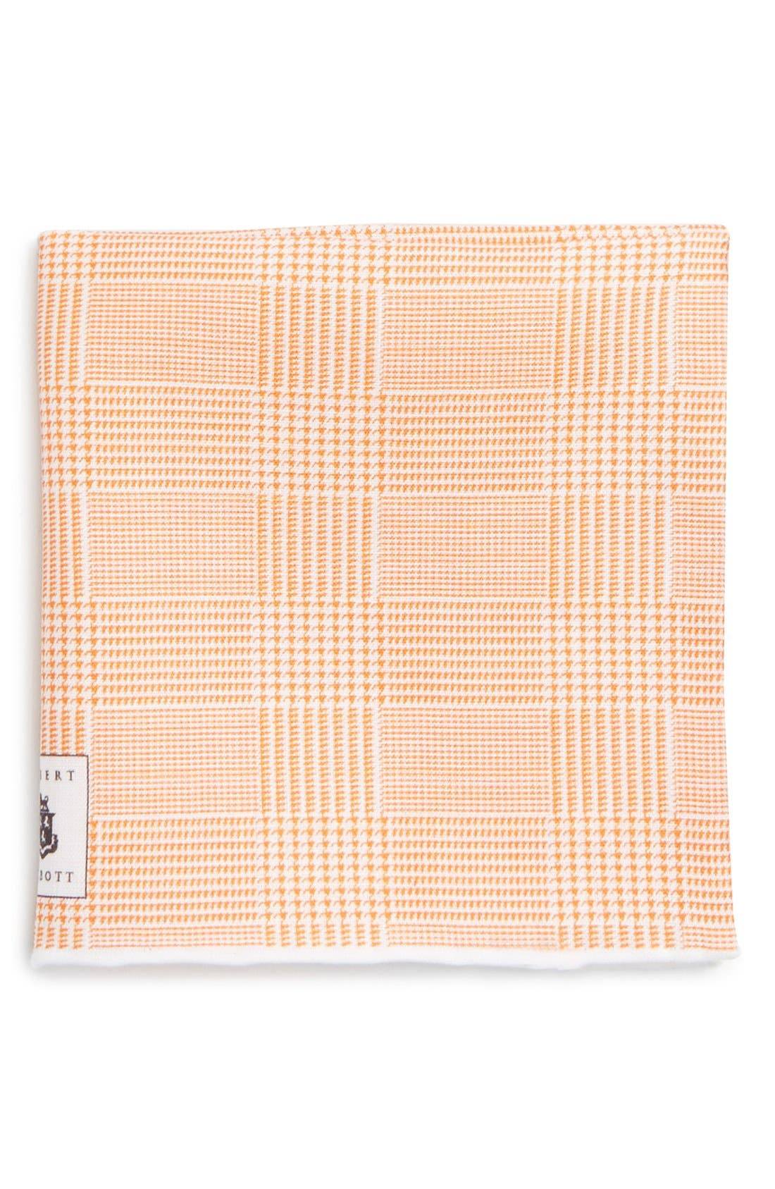 Robert Talbott Plaid Linen Pocket Square