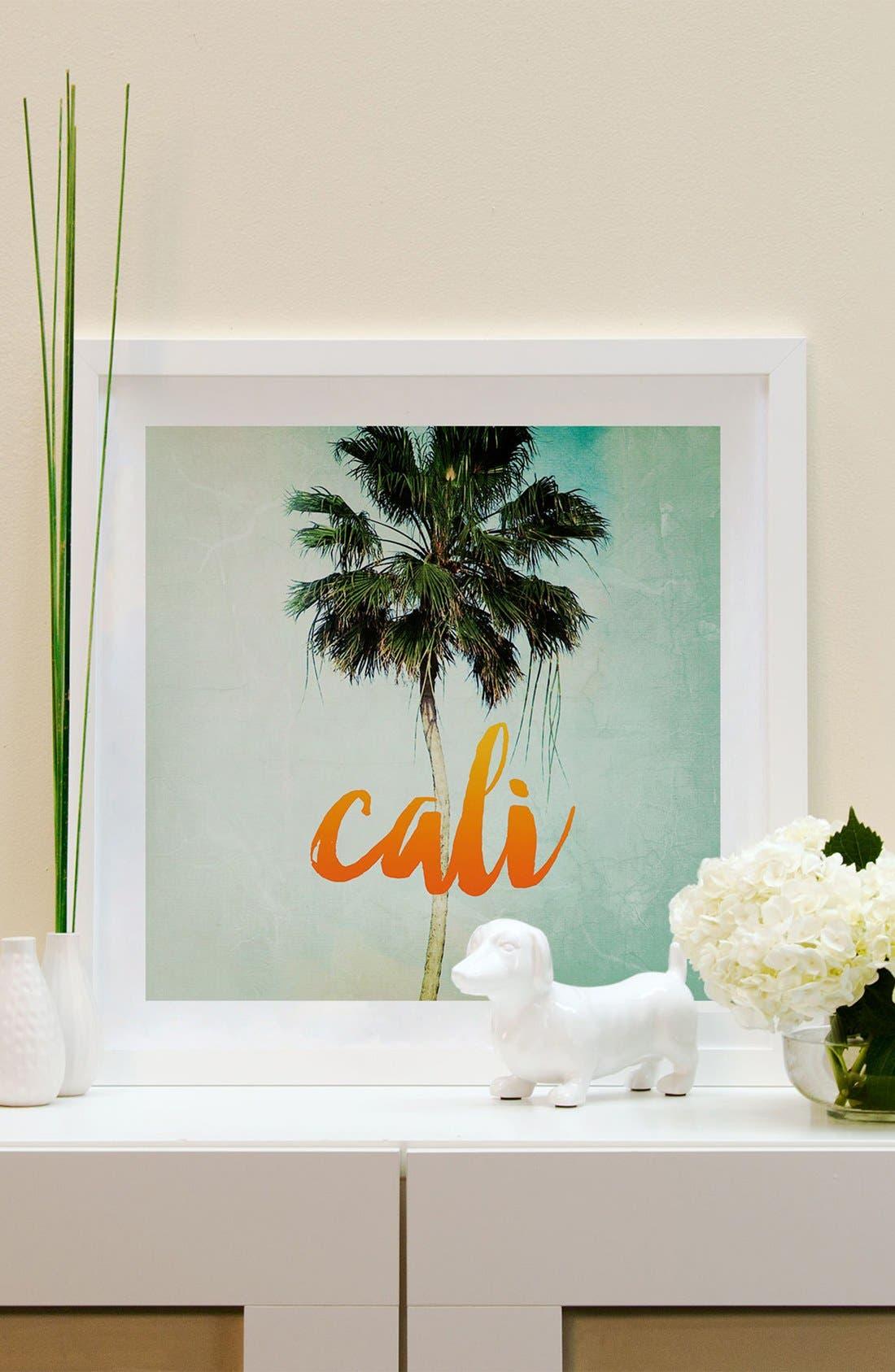 Alternate Image 2  - iCanvas 'California' Framed Fine Art Print