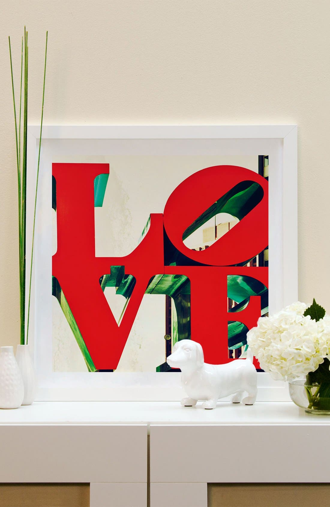 Alternate Image 2  - iCanvas 'Love' Framed Fine Art Print
