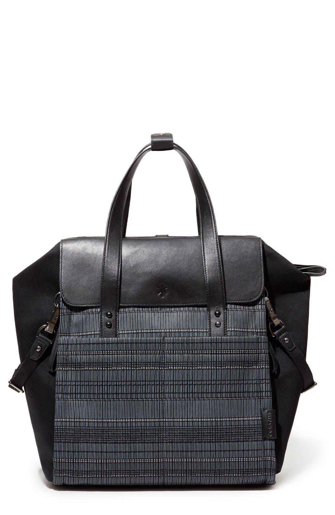 'Highline' Convertible Diaper Backpack,                             Main thumbnail 1, color,                             Black Granite