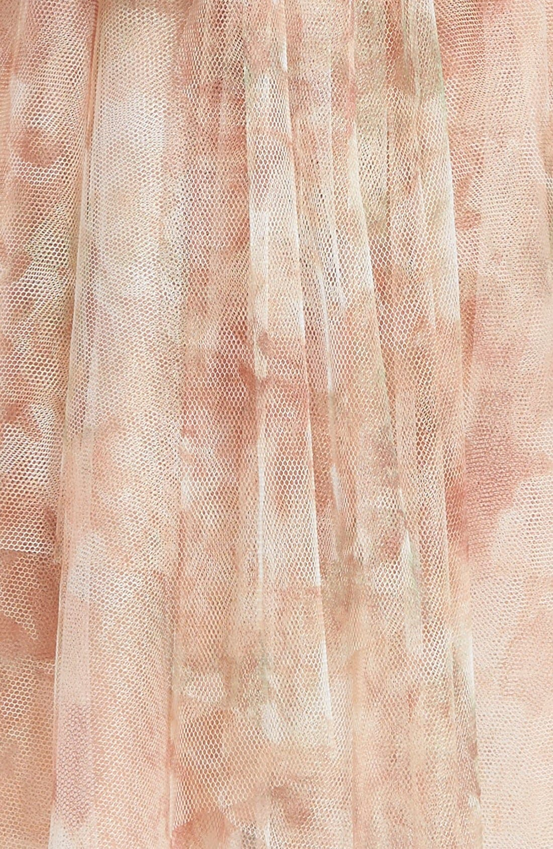 Etsy - Vintage Floral Tulle Dress,                             Alternate thumbnail 3, color,                             Blush Multi