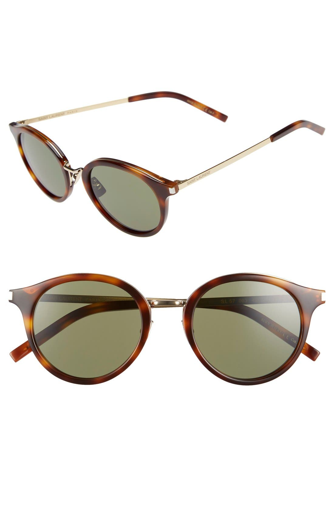 Main Image - Saint Laurent 49mm Round Sunglasses