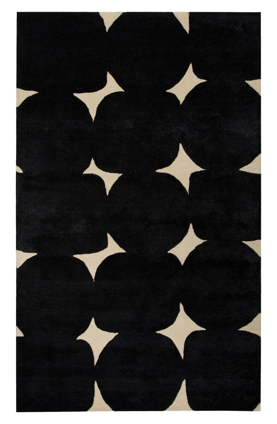 kate spade new york 'gramercy' dot wool & silk rug