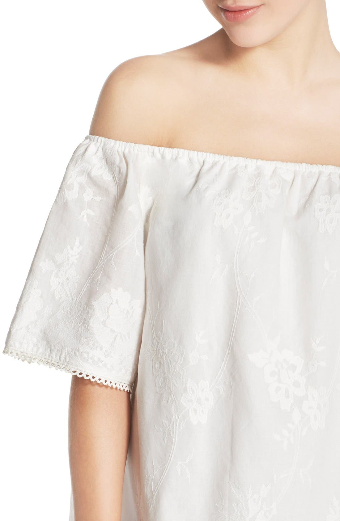 Alternate Image 4  - BB Dakota 'Manda' Off the Shoulder Cotton Shift Dress