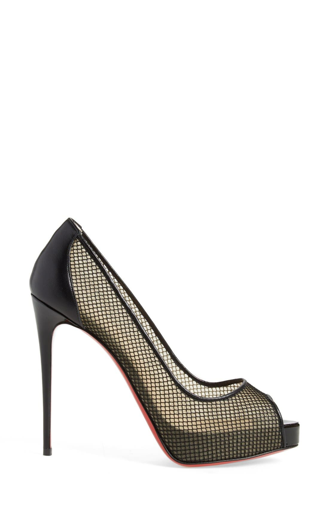Alternate Image 4  - Christian Louboutin 'Very Rete' Mesh Peeptoe Pump