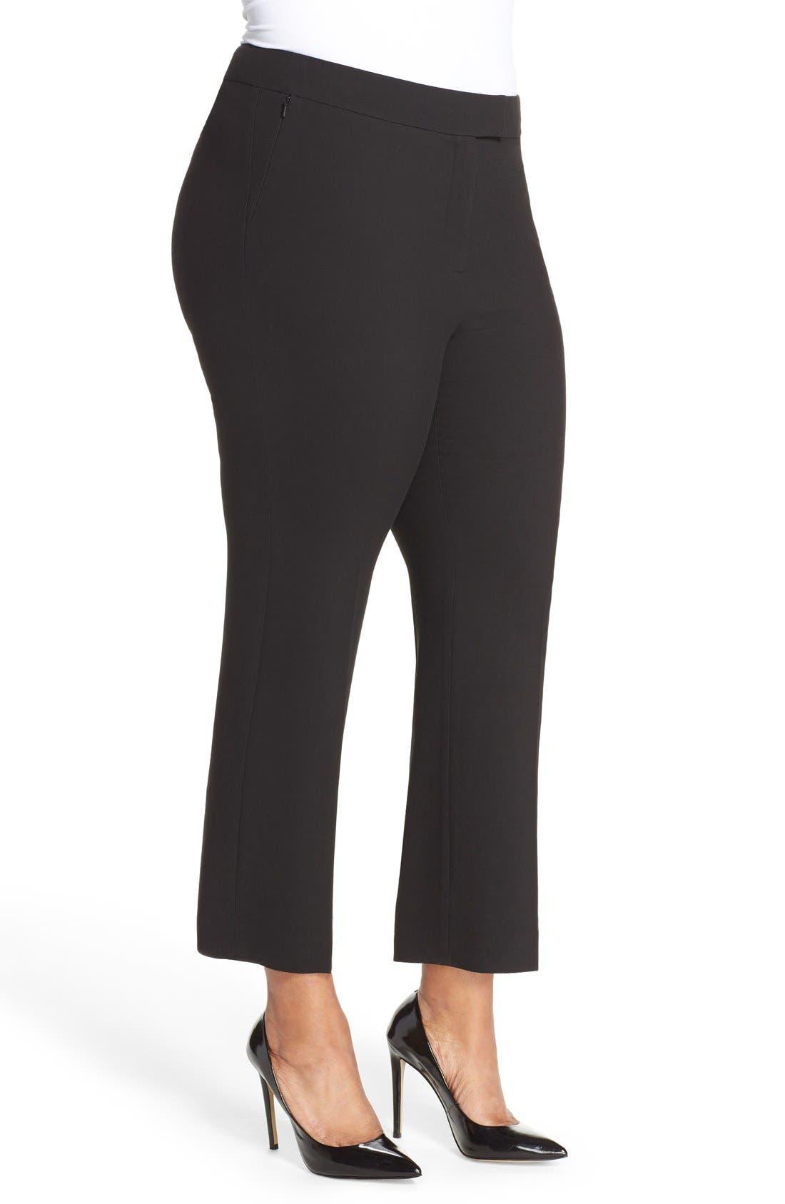 Alternate Image 4  - Classiques Entier® Flare Leg Crop Pants (Plus Size)