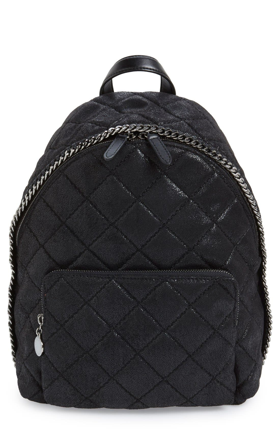 Main Image - Stella McCartney 'Mini Falabella' Faux Leather Quilted Backpack