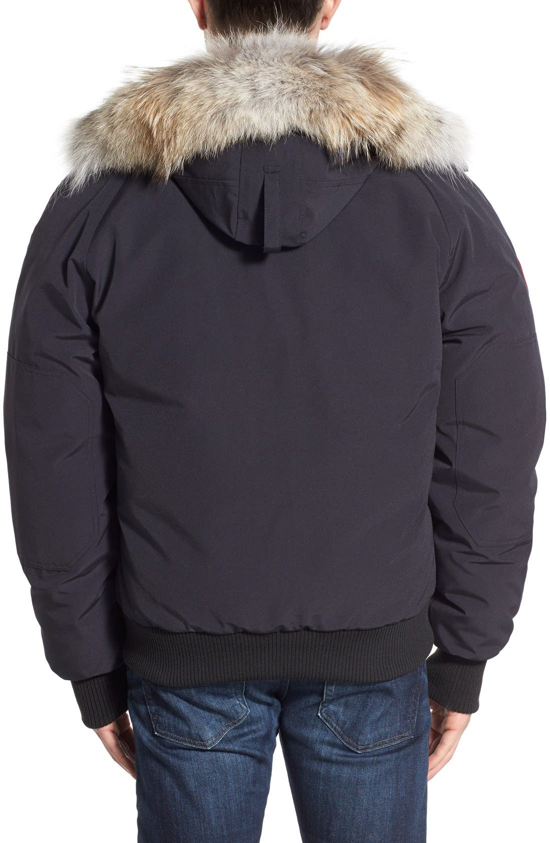 Alternate Image 2  - Canada Goose 'Chilliwack' Down Bomber Jacket with Genuine Coyote Trim