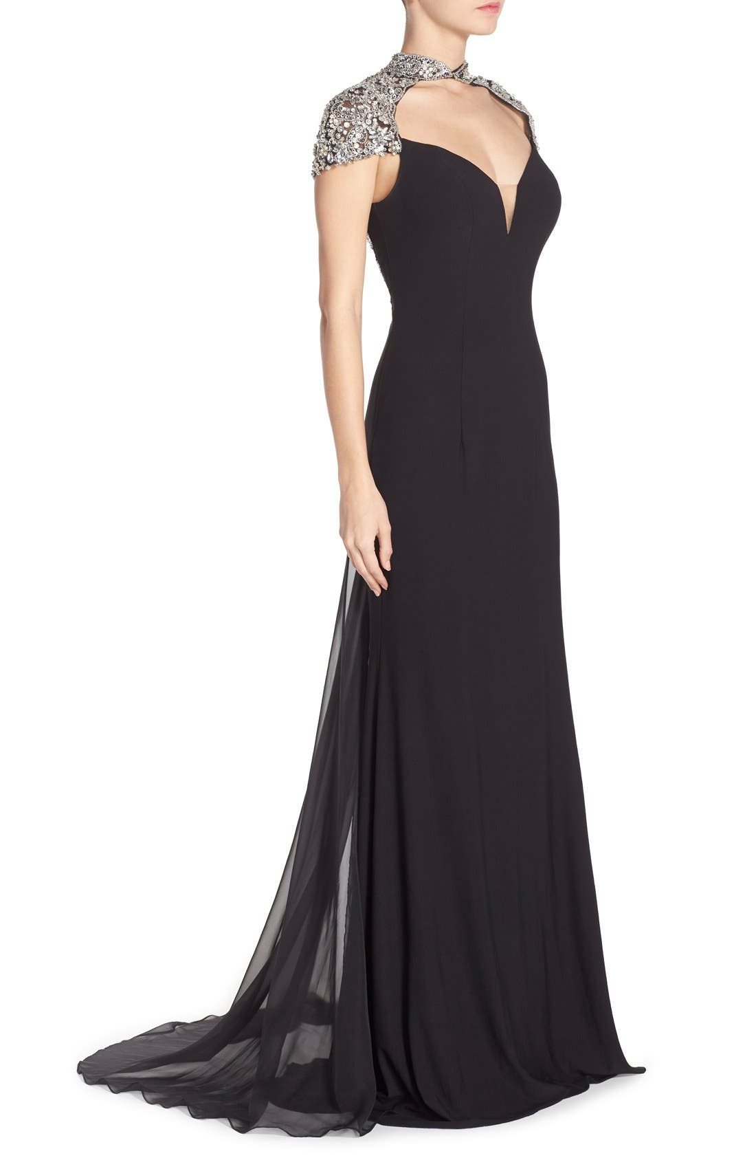 Alternate Image 3  - Sean Collection Embellished Jersey Gown