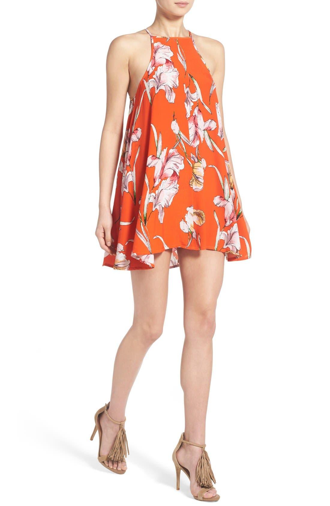 Alternate Image 4  - MINKPINK 'Tangerine Dream' Floral Print Swing Dress