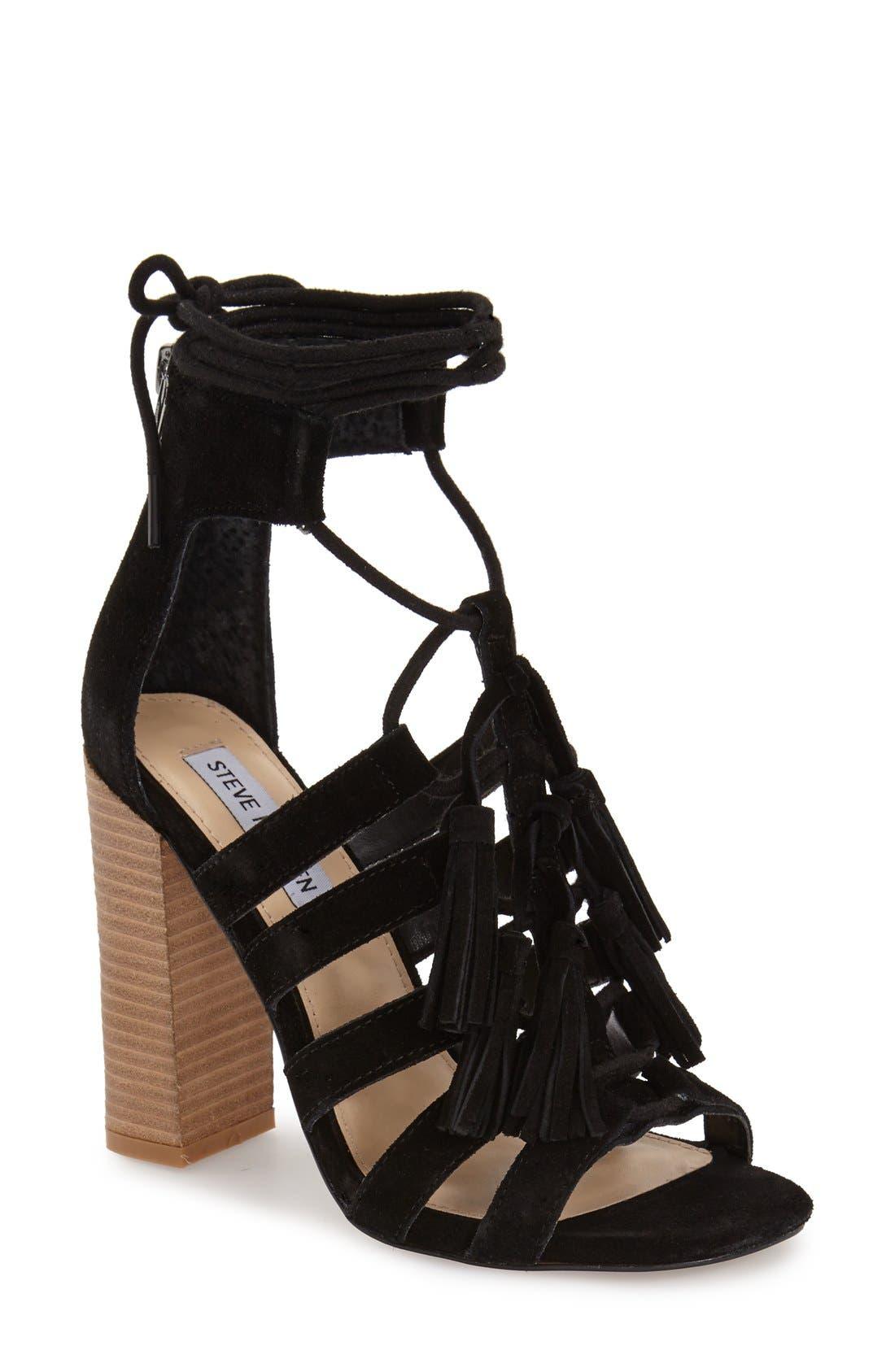 Alternate Image 1 Selected - Steve Madden 'Tasssal' Lace-Up Sandal (Women)