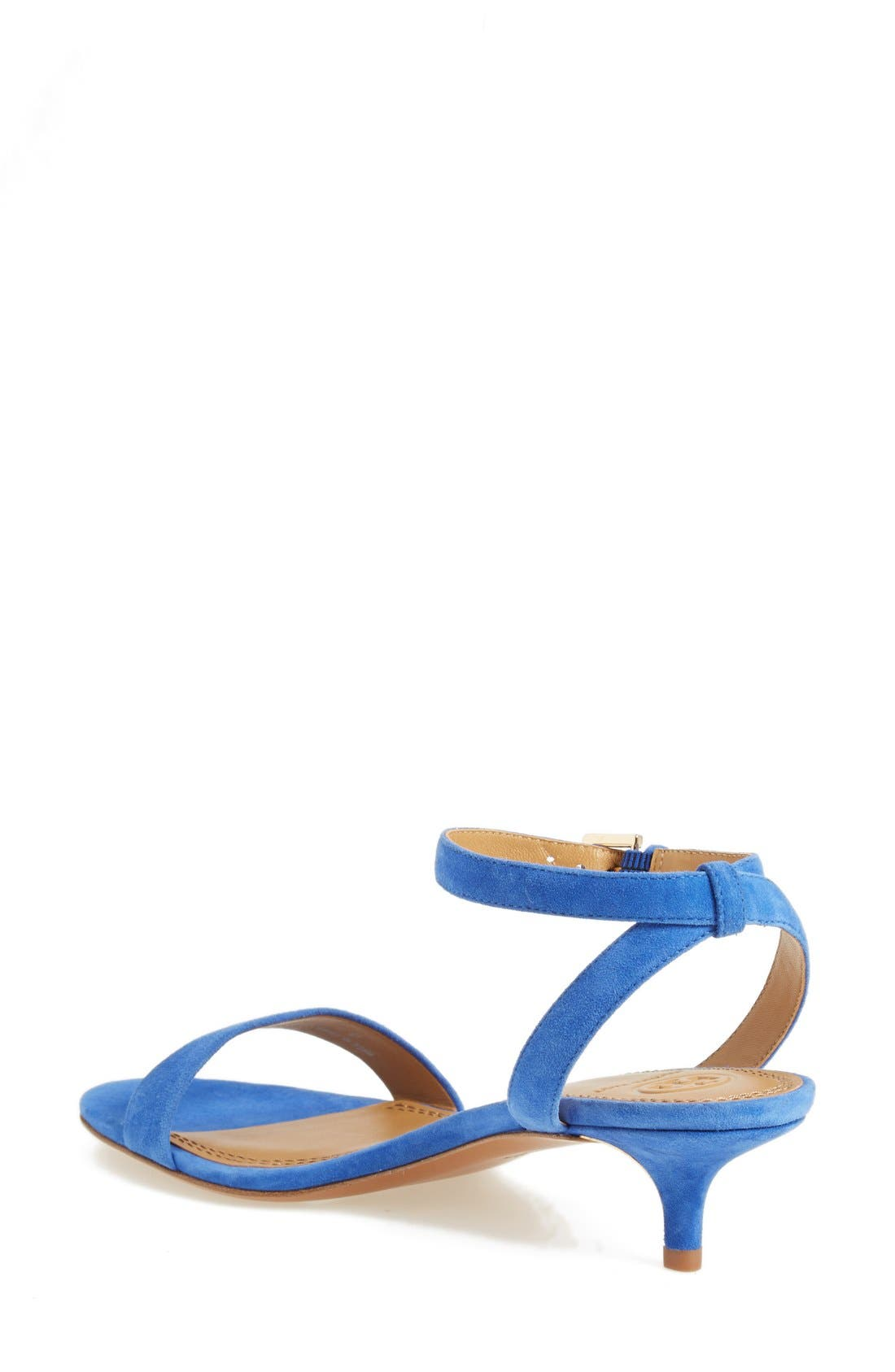 'Elana' Ankle Strap Sandal,                             Alternate thumbnail 2, color,                             Jelly Blue Suede