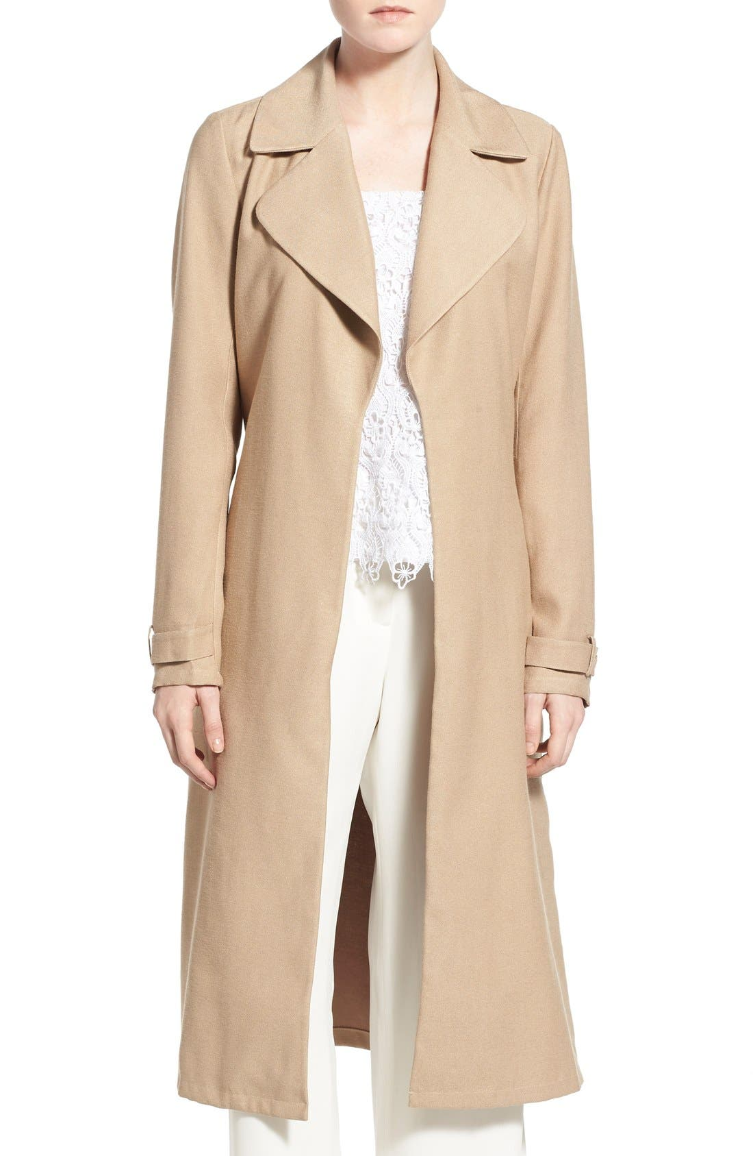 Main Image - Chelsea28 Belted Crepe Trench Coat