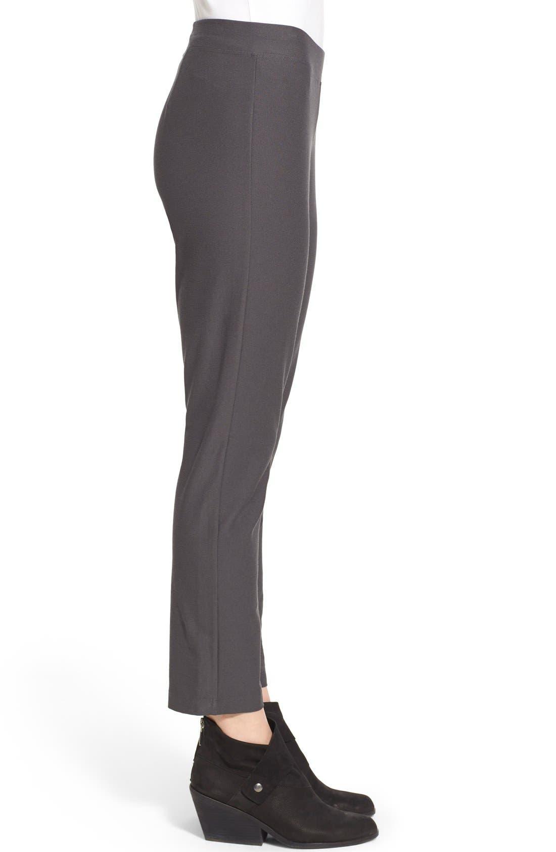 Alternate Image 3  - Eileen Fisher Stretch Crepe Slim Ankle Pants (Regular & Petite)