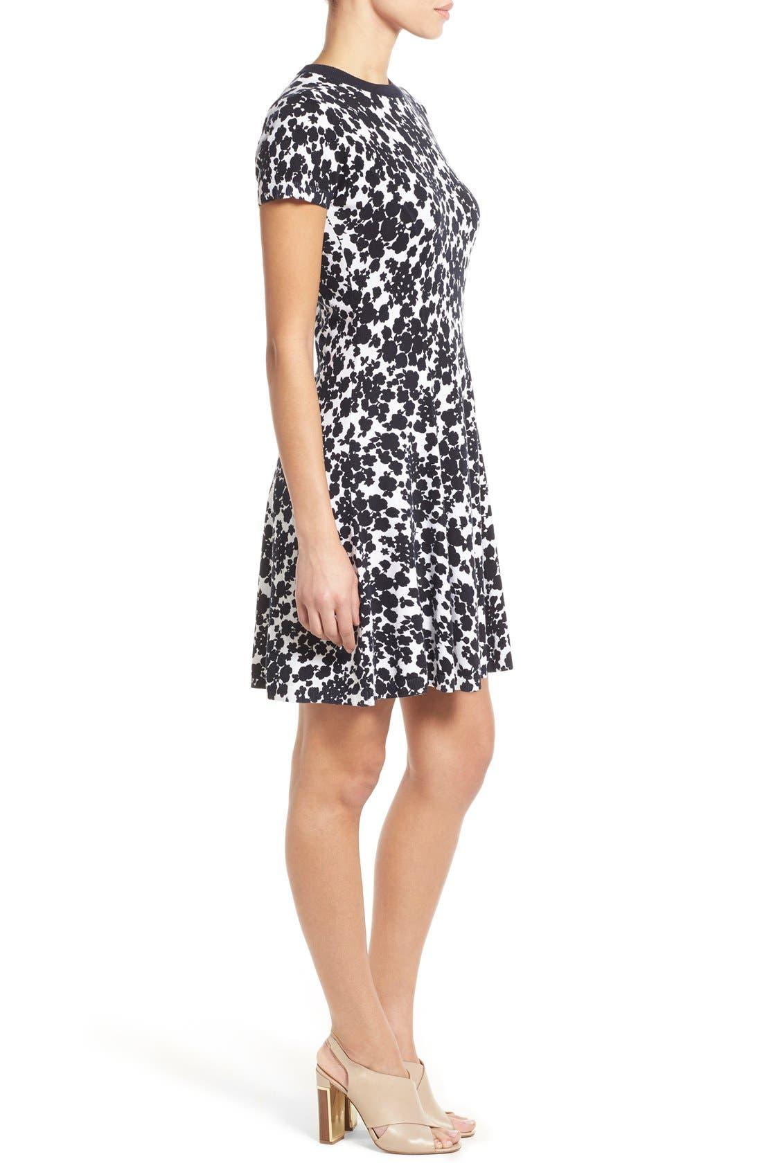 Alternate Image 3  - MICHAEL Michael Kors 'Gemma' Print Fit & Flare Sweater Dress