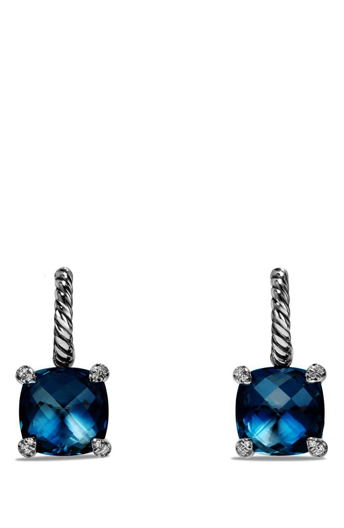 DAVID YURMAN Châtelaine Drop Earrings with Semiprecious Stones and Diamonds