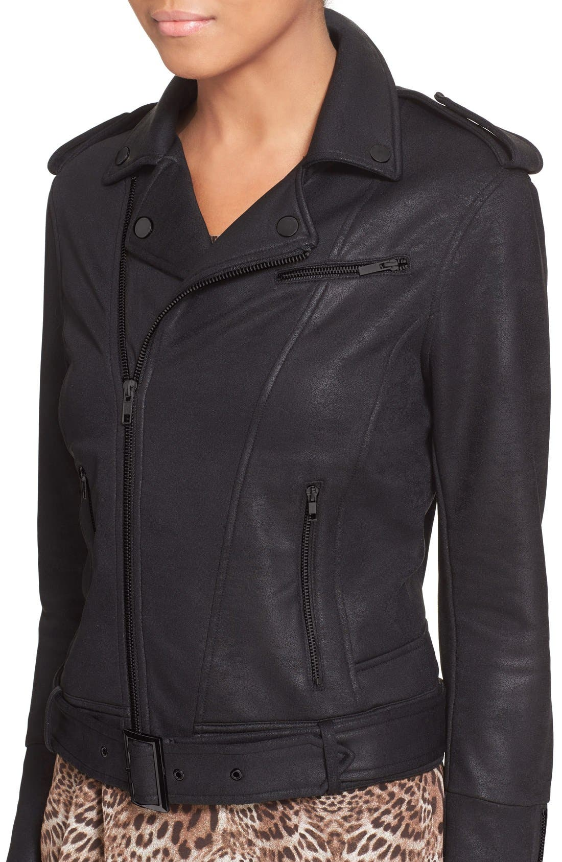 Alternate Image 5  - The Kooples Faux Leather Moto Jacket