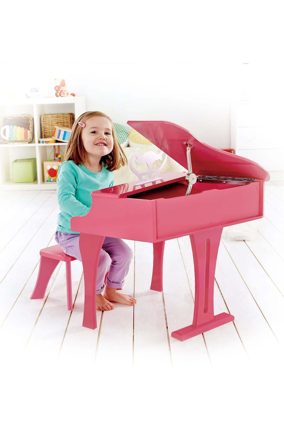 'Happy Grand' Toy Grand Piano & Bench,                             Alternate thumbnail 2, color,                             Pink