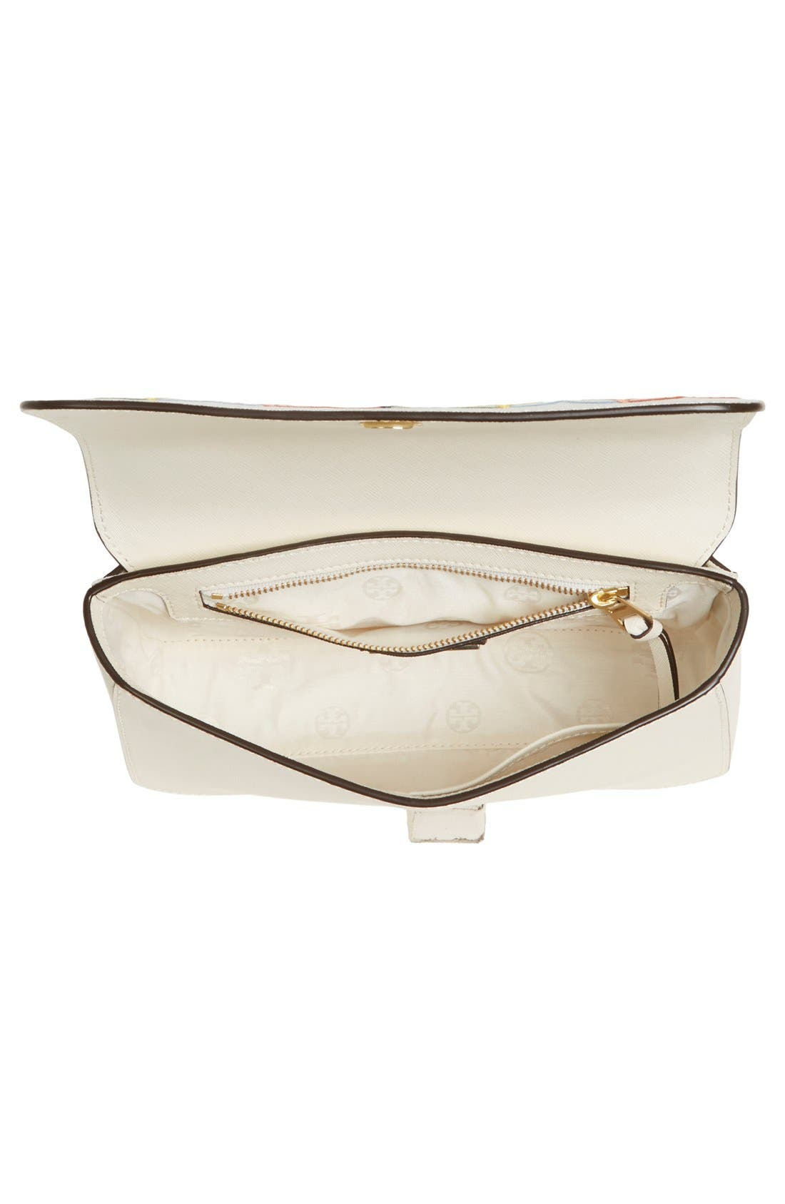 Alternate Image 4  - Tory Burch 'Robinson' Embroidered Shoulder Bag