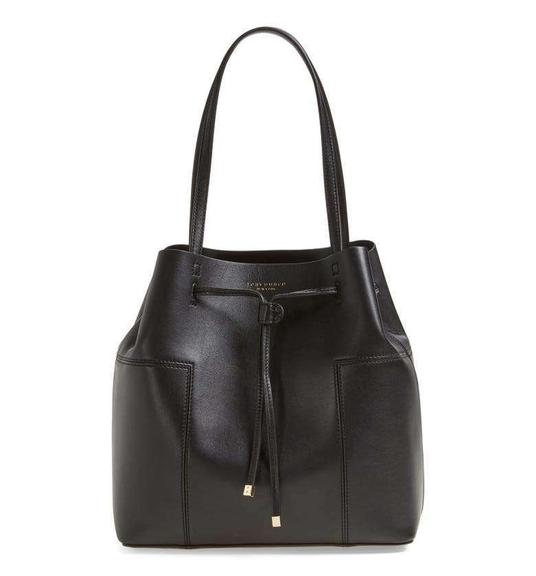 Tory Burch Block T Leather Drawstring Tote Nordstrom
