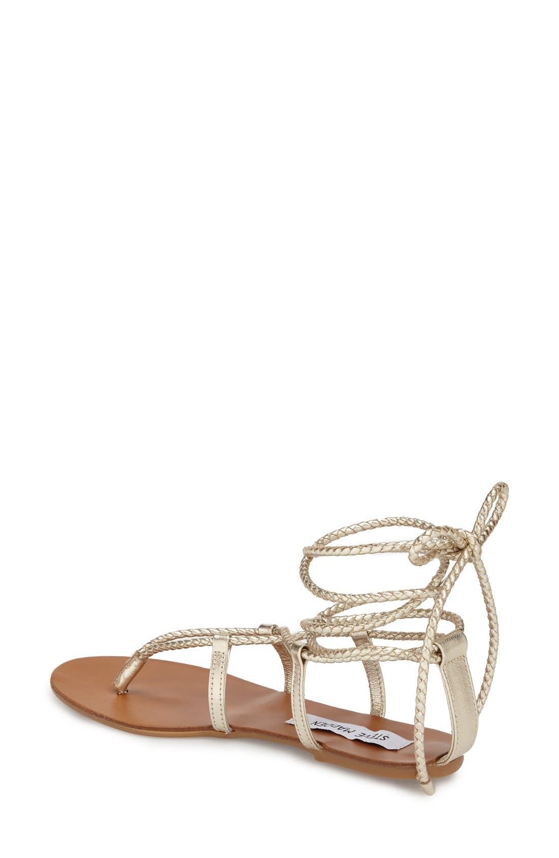 'Werkit' Gladiator Sandal,                             Alternate thumbnail 2, color,                             Gold Multi