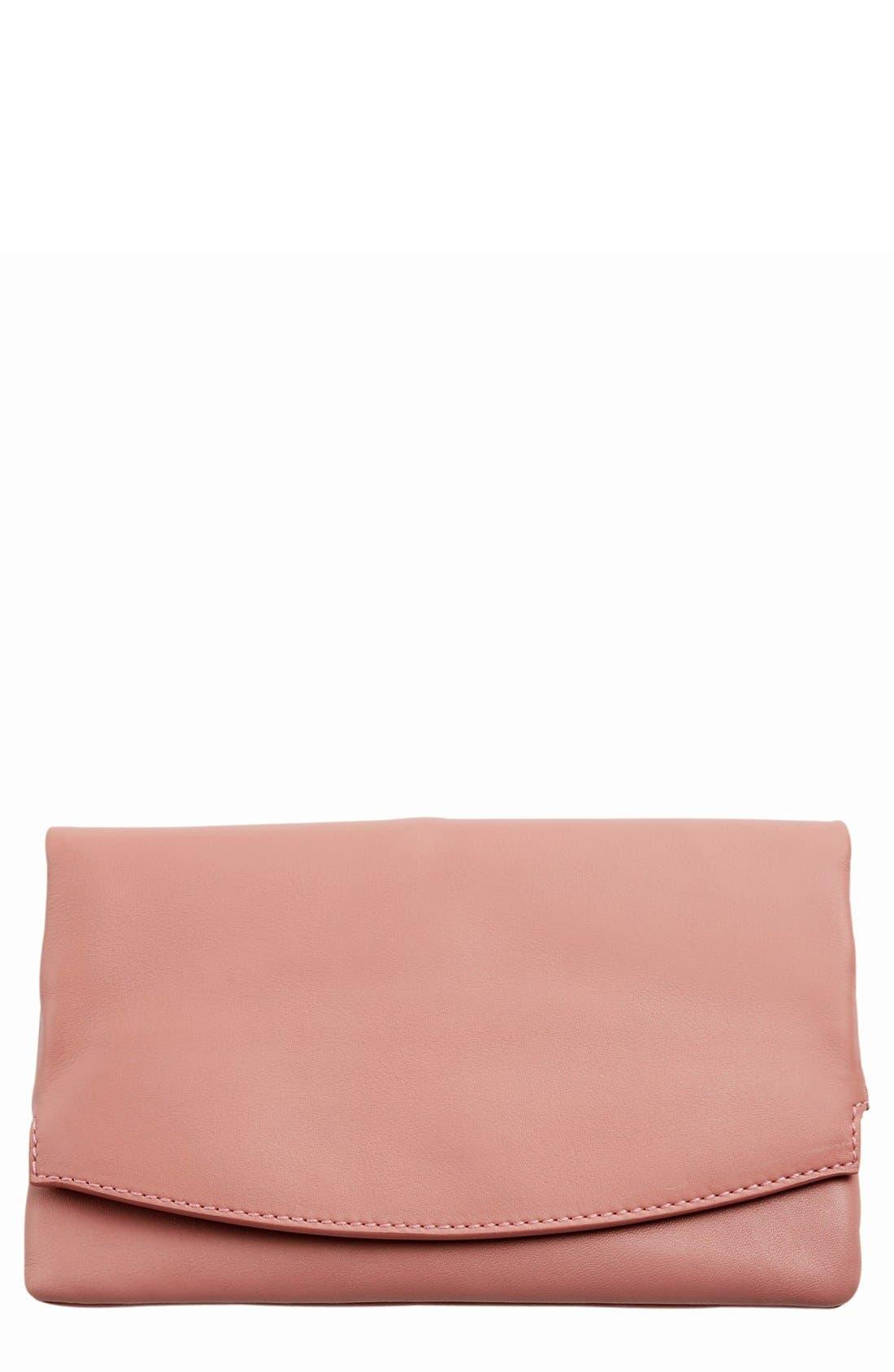 Main Image - Skagen 'Anne-Marie' Leather Flap Clutch